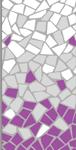 Púrpura, Gris Acero y Blanco
