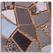 Gaudi Mottled (2:2:2:1:1:1) Moving, Steel Grey, Deep Grey, Black, White & Sky Blue