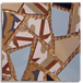 Gaudi Mottled (3:1:1:1) Vanguard, Sky Blue, Kalahari Beige & Black